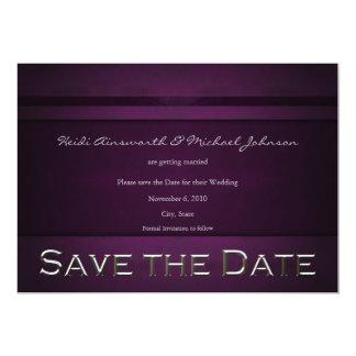 "Purple Save the Date 5"" X 7"" Invitation Card"