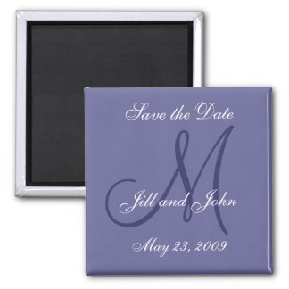 Purple Save the Date Magnets for Weddings