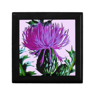 Purple Scottish Garden Thistle Keepsake Box