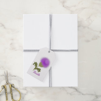 Purple Scottish Thistle Personalized Pack Of Gift Tags