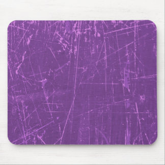 Purple Scratched Aged and Worn Texture Mouse Pad