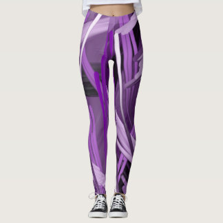Purple Scribble Leggings