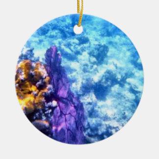 Purple Sea Fan Dated Ornament