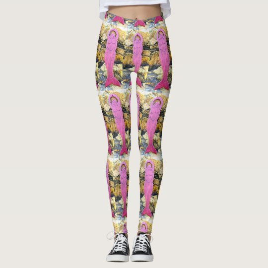 purple sea goddess leggings