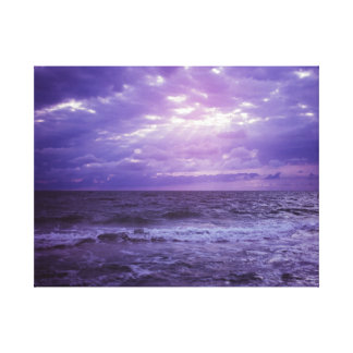 Purple Sea Storm Color Canvas Print