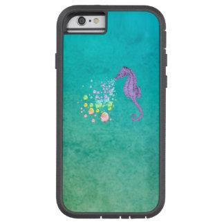 Purple Seahorse Blowing Rainbow Bubbles Tough Xtreme iPhone 6 Case