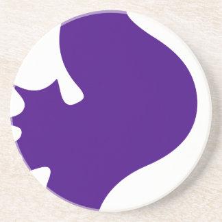 Purple Seahorse Coaster