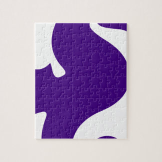 Purple Seahorse Jigsaw Puzzle