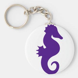 Purple Seahorse Keychain