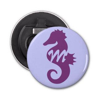 Purple Seahorse Monogrammed Bottle Opener