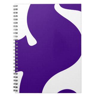 Purple Seahorse Notebooks