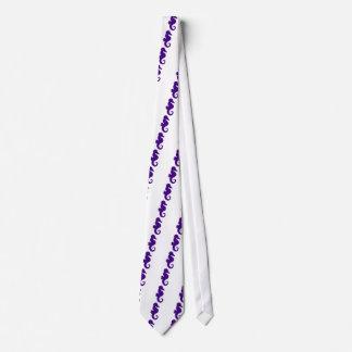 Purple Seahorse Tie