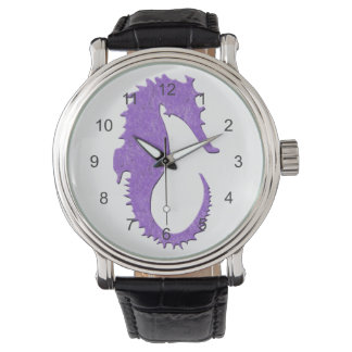 Purple Seahorse Wristwatch