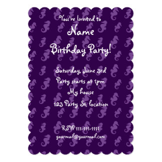 Purple seahorses card