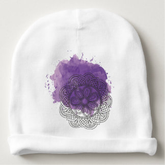 Purple sends it baby beanie