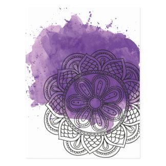 Purple sends it postcard