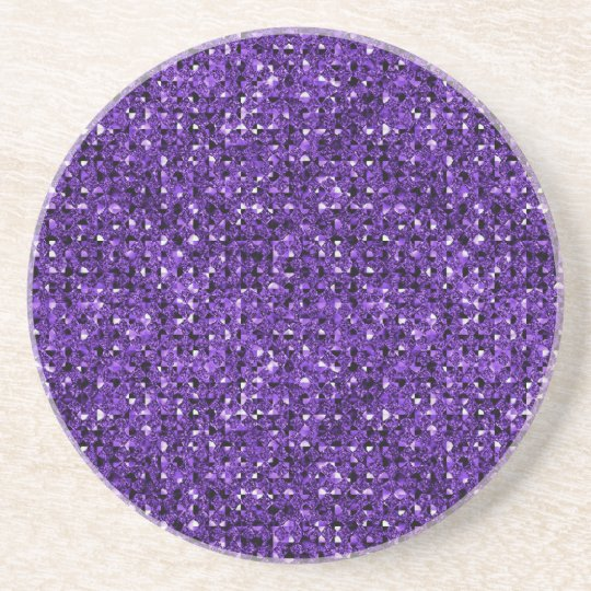 purple sequin effect sandstone drink coasters