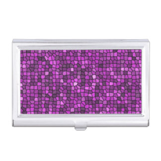 Purple Sequins Business Card Holder