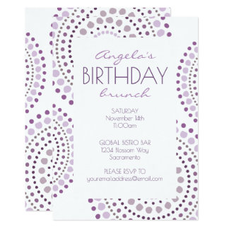 Purple Shades Boho Mosaic Tribal Birthday Card