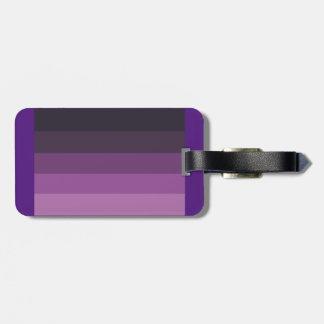 Purple Shades simple & sleek Bag Tag
