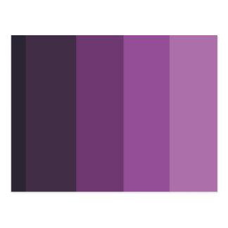 Purple Shades simple & sleek Postcard