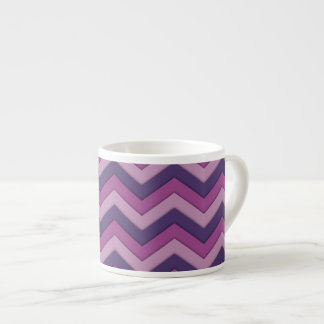 Purple Shadow Chevron Pattern Espresso Mug