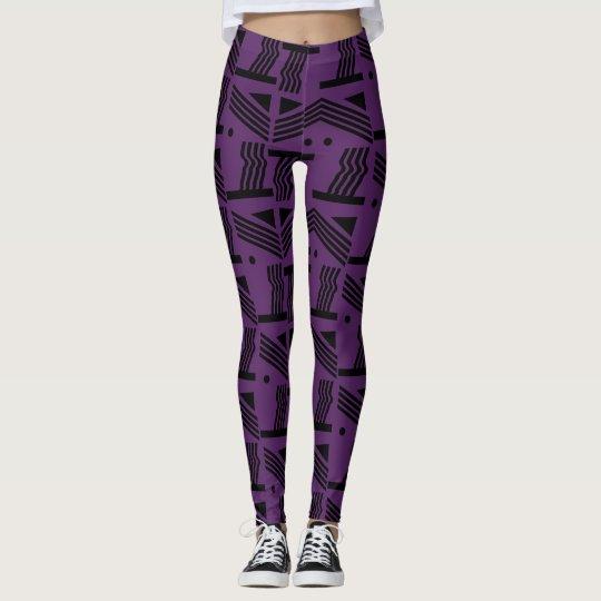 Purple Shapes Leggings