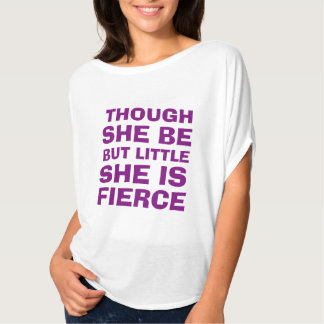 "Purple ""She Is Fierce"" Women's Shirt"