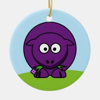 Purple Sheep Ornament
