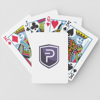 Purple Shield PIVX Bicycle Playing Cards