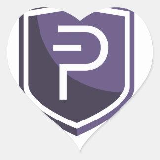 Purple Shield PIVX Heart Sticker