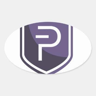 Purple Shield PIVX Oval Sticker