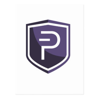 Purple Shield PIVX Postcard