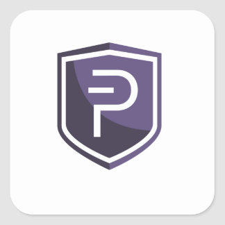 Purple Shield PIVX Square Sticker