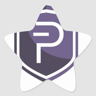 Purple Shield PIVX Star Sticker