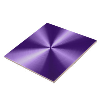 Purple Shiny Metallic Design Stainless Steel Look Tiles