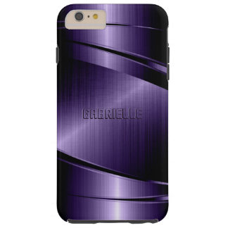 Purple Shiny Metallic Design Tough iPhone 6 Plus Case