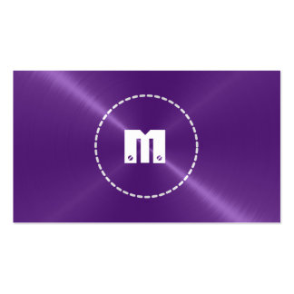 Purple Shiny Stainless Steel Metal Business Card Templates