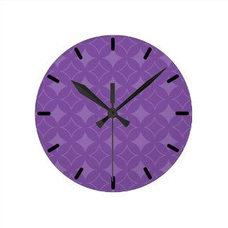 Purple shippo pattern wallclocks