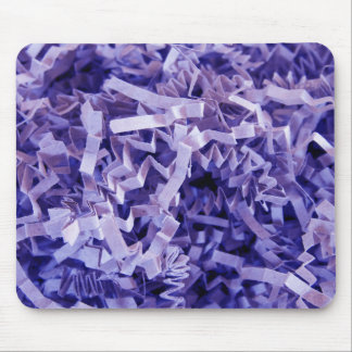 Purple Shredded Crinkled Paper Mouse Pad