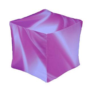Purple Silks Pouf