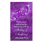 Purple Silver Masquerade Wedding Favour Tags Business Card