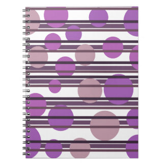 Purple simple pattern notebook