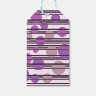 Purple simple pattern pack of gift tags