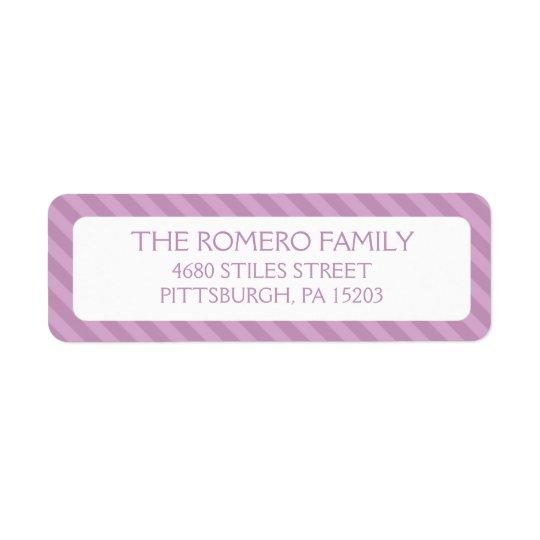 Purple Simple Stripes Custom Personalized