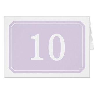 Purple Simply Elegant Table Number Card