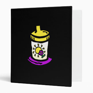 purple sippy cup vinyl binder
