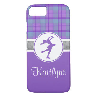 Purple Skating Sweetheart Plaid iPhone 7 Case