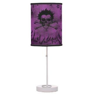 Purple Skull and Bone Table Lamp For Teens