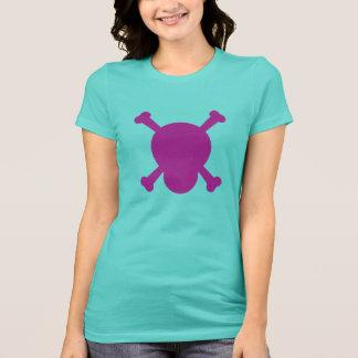 Purple Skull and Bones symbol T-Shirt